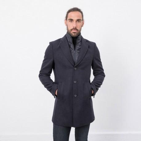 sortie d'usine lacer dans la moitié Manteau trois quarts bleu marine en drap de laine Manteaux, Parkas Homme  19TONY Navy — Elora