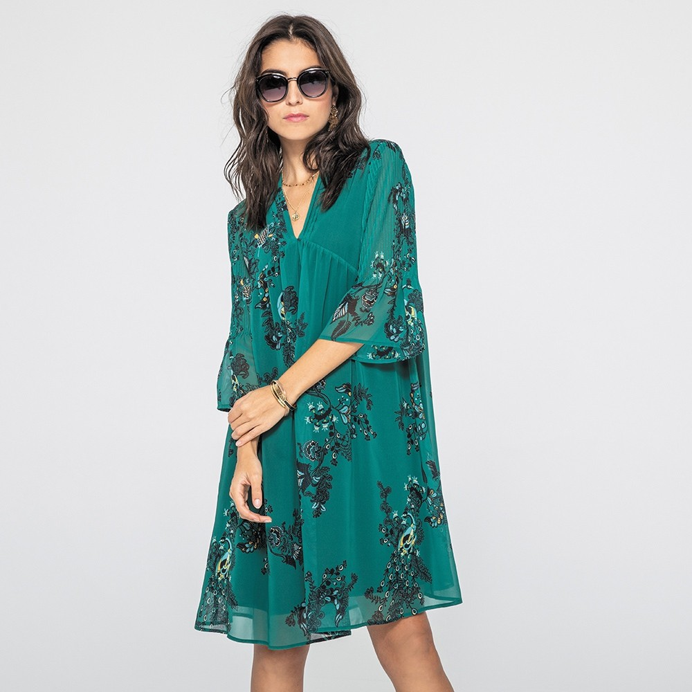 Robe imprimé vert
