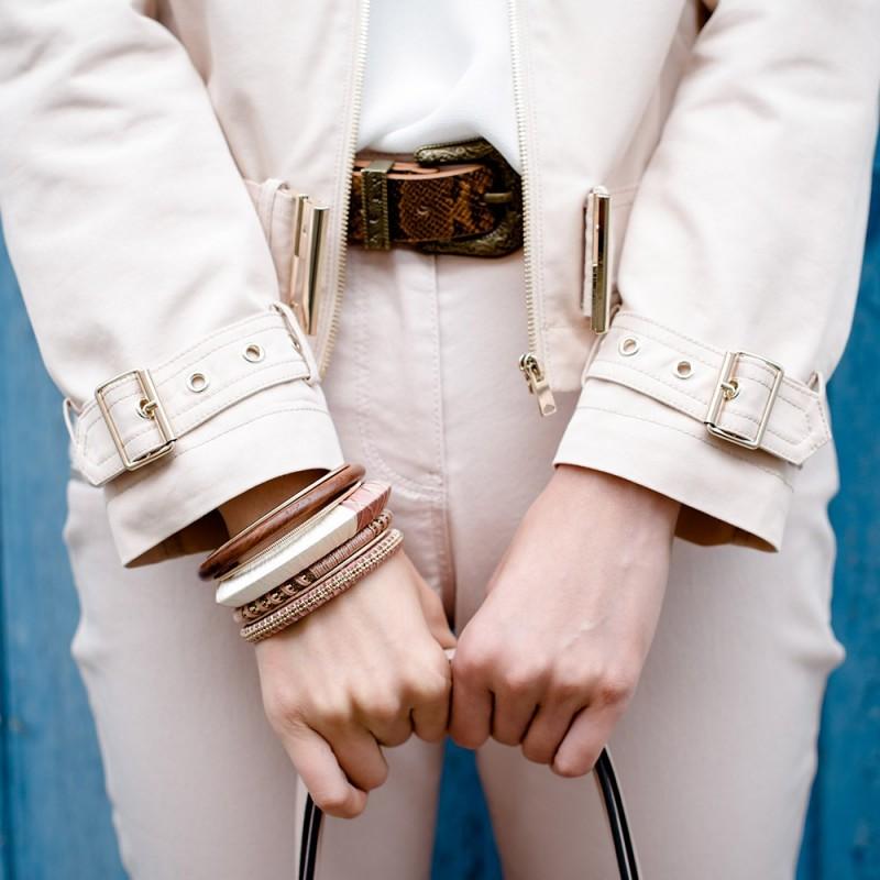 Bracelets rose et doré