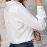 Chemise droite d'homme écrue - éco-responsable