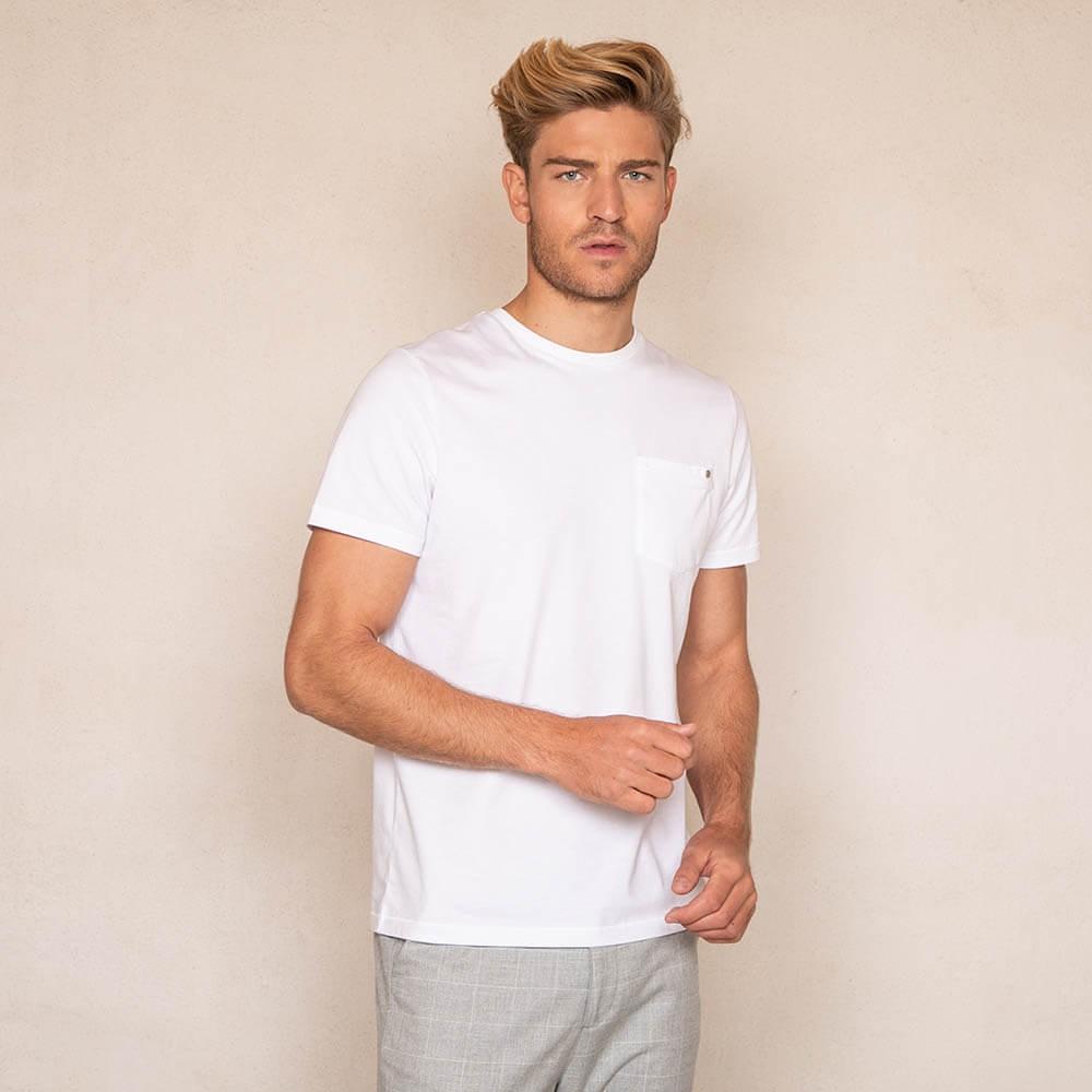 T-shirt blanc 100% coton éco-responsable