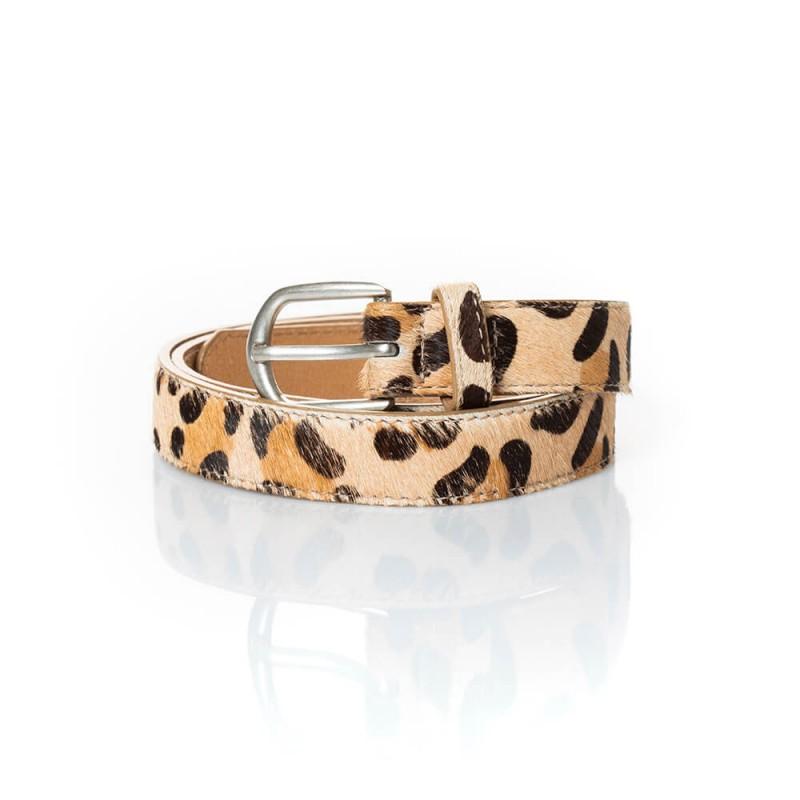 Ceinture en cuir motif léopard