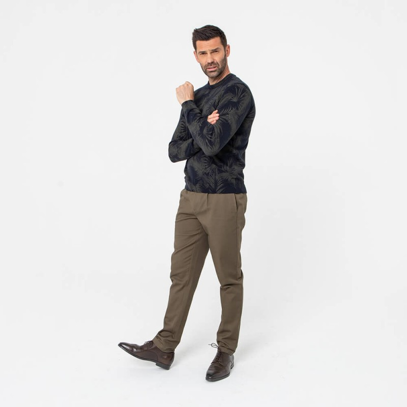 Pantalon chino bronze en coton responsable