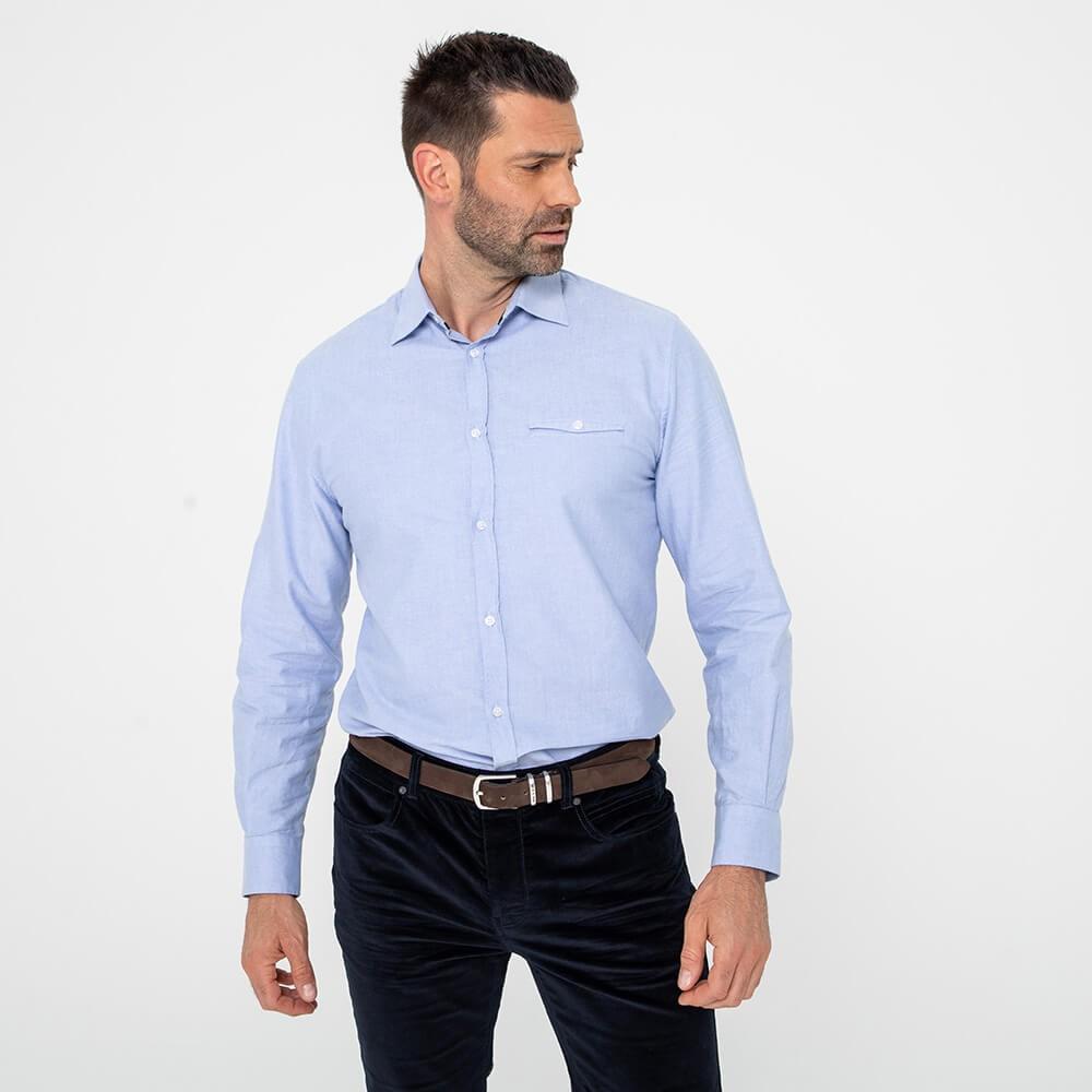 Chemise droite 100% coton responsable